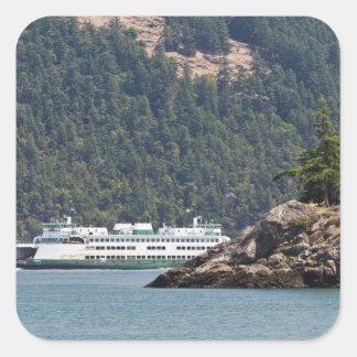 USA, WA. Washington State Ferries Square Stickers