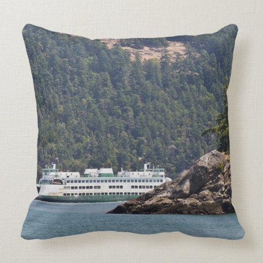 USA, WA. Washington State Ferries Throw Pillow