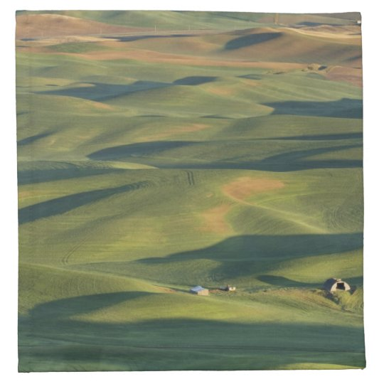 USA, WA, Whitman Co., Palouse Farm Fields From Cloth Napkin