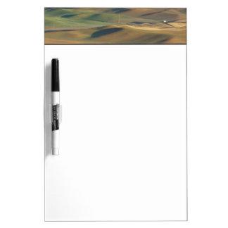 USA, WA, Whitman Co., Palouse Farm Fields From Dry Erase Board