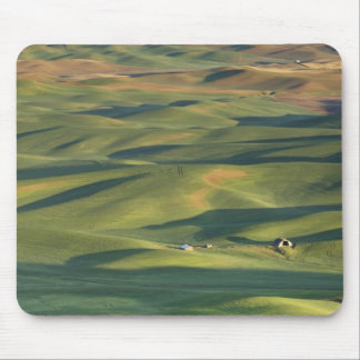 USA, WA, Whitman Co., Palouse Farm Fields From Mouse Pad