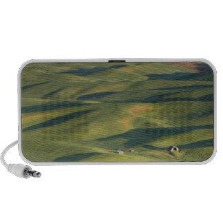 USA, WA, Whitman Co., Palouse Farm Fields From iPod Speaker
