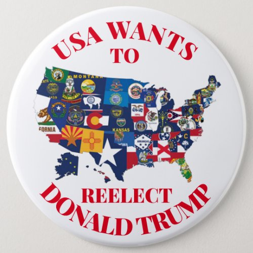 USA wants to Reelect Donald Trump Button
