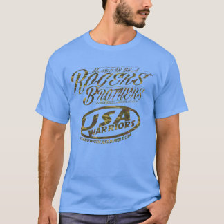usa warriors army camo by rogers bros T-Shirt