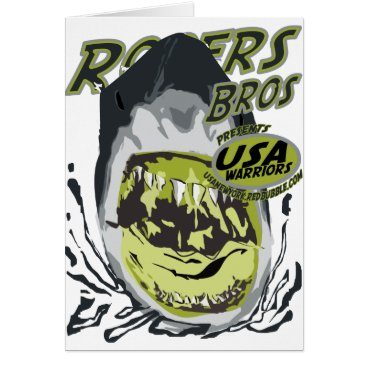 USA Themed usa warriors shark by rogers bros card