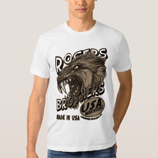usa warriors wolf by rogers bros tees