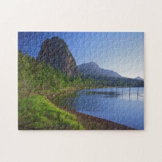 USA, Washington, Beacon Rock State Park, Beacon Puzzles