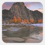 USA, Washington, Cascade Mountains.  Prusik Peak Square Sticker