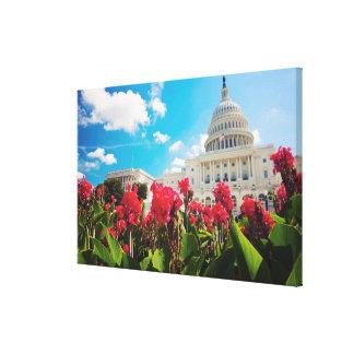 USA, Washington DC, Capitol Building Canvas Print