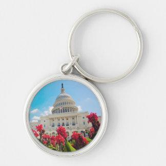 USA, Washington DC, Capitol Building Keychain
