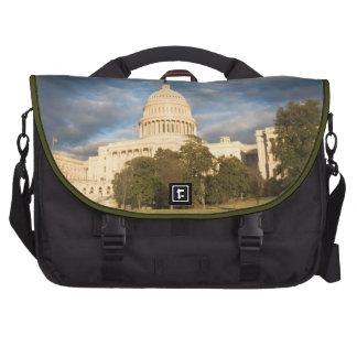 USA, Washington DC, Capitol building Laptop Bags