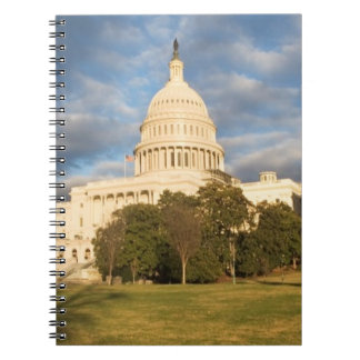USA, Washington DC, Capitol building Spiral Notebooks