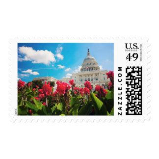 USA, Washington DC, Capitol Building Postage Stamp