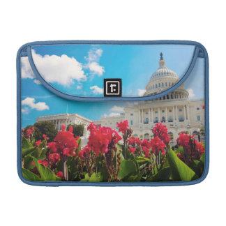 USA, Washington DC, Capitol Building Sleeve For MacBooks