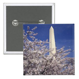 USA, Washington DC. Cherry Blossom Festival and Pinback Buttons
