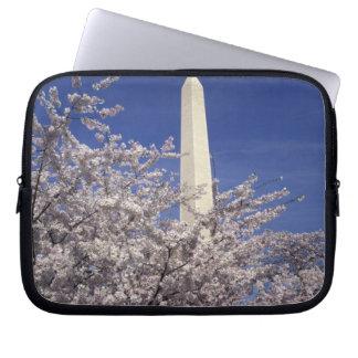 USA, Washington DC. Cherry Blossom Festival and Laptop Sleeve