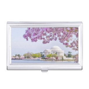 Washington dc business card holders cases zazzle usa washington dc cherry tree in bloom case for business cards reheart Gallery