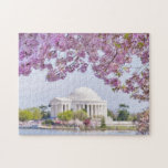 """USA, Washington DC, Cherry tree in bloom Jigsaw Puzzle<br><div class=""""desc"""">USA,  Washington DC,  Cherry tree in blossom with Jefferson Memorial in background</div>"""