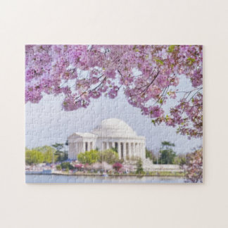 USA, Washington DC, Cherry tree in bloom Jigsaw Puzzle