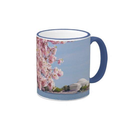 USA, Washington DC, Cherry tree Ringer Coffee Mug