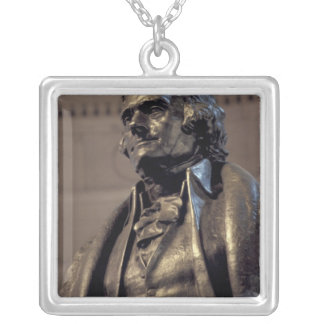 USA, Washington DC. Thomas Jefferson Memorial. Silver Plated Necklace