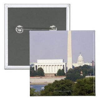 USA, Washington DC, Washington Monument and US 2 Inch Square Button