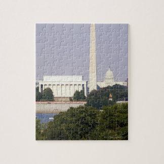 USA, Washington DC, Washington Monument and US Puzzle