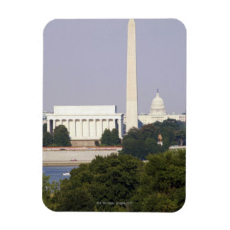 USA, Washington DC, Washington Monument and US Rectangular Photo Magnet