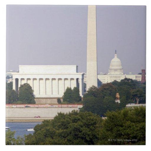 USA, Washington DC, Washington Monument and US Ceramic Tile