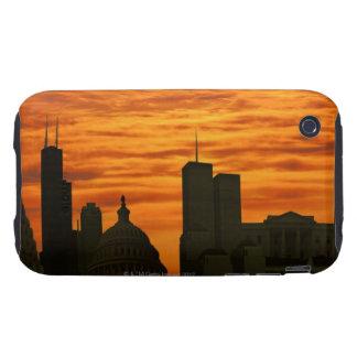 USA, Washington DC, White House and World trade Tough iPhone 3 Cover