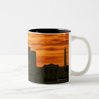 USA, Washington DC, White House and World trade Two-Tone Coffee Mug