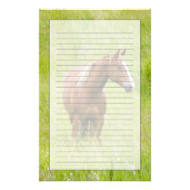 USA, Washington, Horse in Spring Field, Stationery