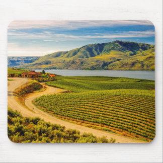 USA, Washington, Lake Chelan. Benson Vineyards Mouse Pad