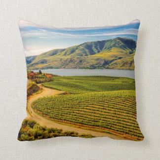 USA, Washington, Lake Chelan. Benson Vineyards Pillow