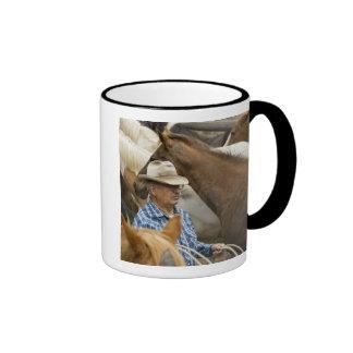 USA, Washington, Malaga, Cowboy foreman on Ringer Mug