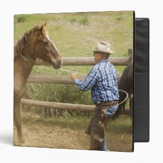 USA, Washington, Malaga, Unmounted cowboy 3 Ring Binder