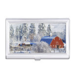 USA, Washington, Methow Valley, Barns in Case For Business Cards