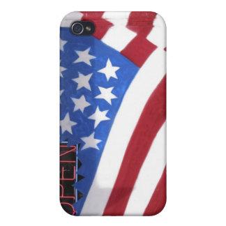 USA, Washington, Moses Lake. Flag wall mural on Cases For iPhone 4