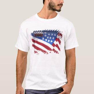 USA, Washington, Moses Lake. Flag wall mural on T-Shirt