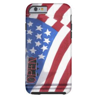 USA, Washington, Moses Lake. Flag wall mural on Tough iPhone 6 Case