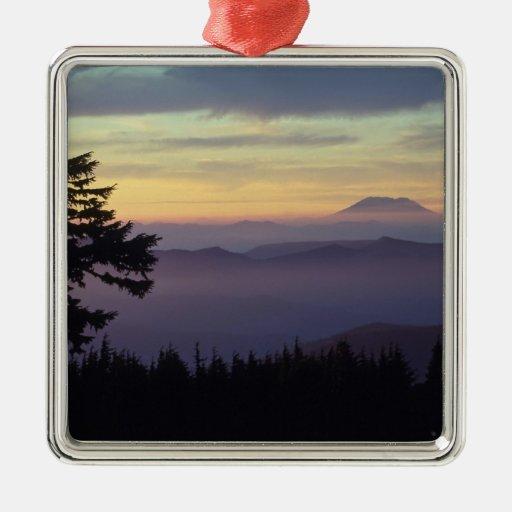 USA, Washington. Mount St. Helens seen through Metal Ornament