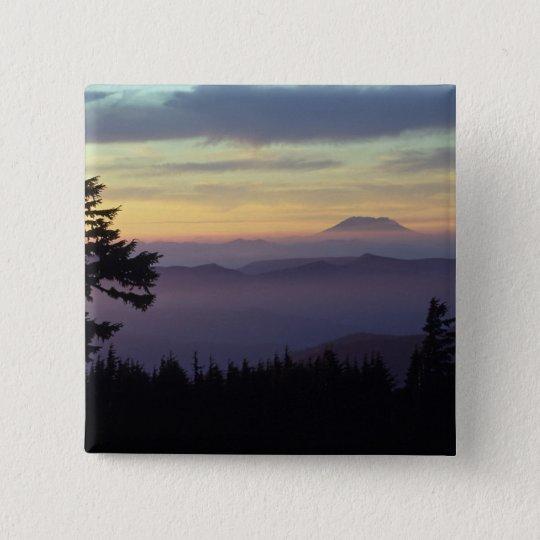 USA, Washington. Mount St. Helens seen through Pinback Button