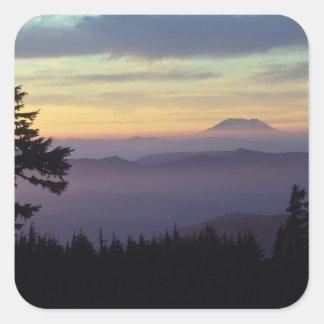 USA, Washington. Mount St. Helens seen through Square Sticker