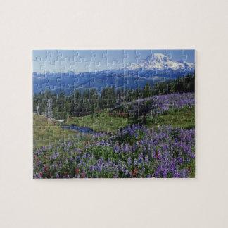 USA, Washington Mt. Adams Wilderness, Meadows Jigsaw Puzzle