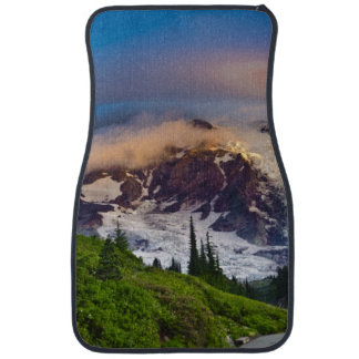 USA, Washington, Mt. Rainier. Morning sun Car Mat