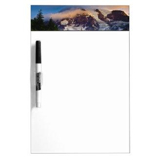 USA, Washington, Mt. Rainier. Morning sun Dry-Erase Board