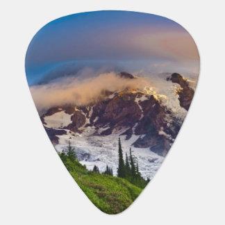 USA, Washington, Mt. Rainier. Morning sun Guitar Pick