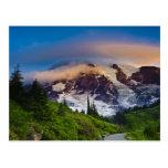 USA, Washington, Mt. Rainier. Morning sun Post Cards