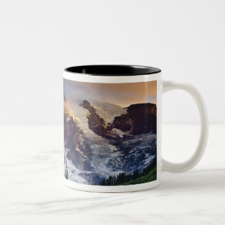 USA, Washington, Mt. Rainier. Morning sun Two-Tone Coffee Mug
