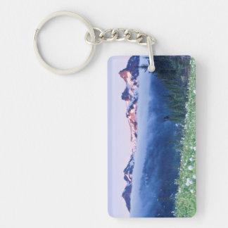 USA, Washington, Mt. Rainier National Park 4 Double-Sided Rectangular Acrylic Keychain